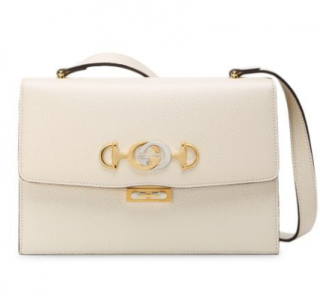 Gucci Grained Leather Zumi Shoulder Bag