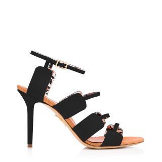 Charlotte Olympia Black Canvas Meryl Sandals