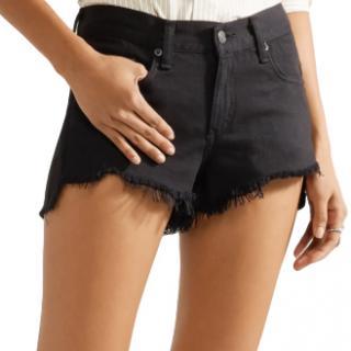 Rag & Bone Frayed cut-off denim shorts