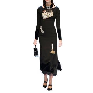 Dolce & Gabbana Fairy Tale Embroidered Runway Midi Dress