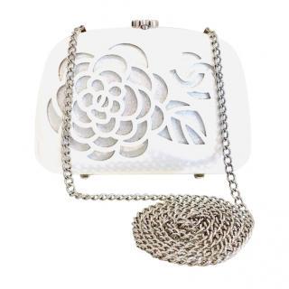 Chanel Camellia Lasercut Mini Crossbody Bag