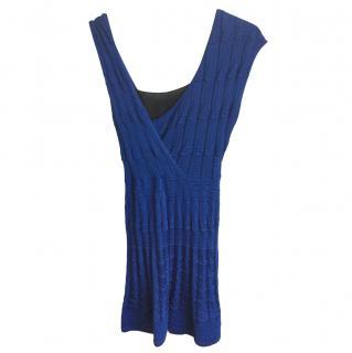 Missoni Asymmetric Sleeve Knit Mini Dress
