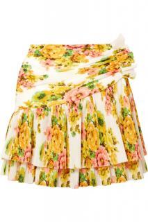 Zimmermann chiffon golden surfer floral mini skirt