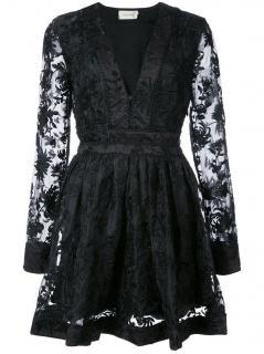 Zimmermann black embroidered silk mini dress