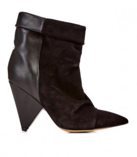 Isabel Marant Andrew black suede & leather ankle boots