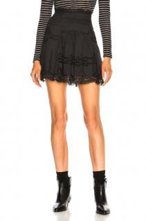 Isabel Marant black lace Marion skirt