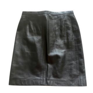 Donna Karan Signature Vintage Leather Skirt