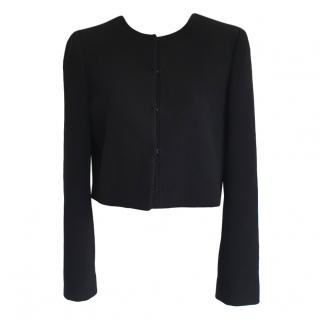Giambattista Valli black wool crepe cropped jacket