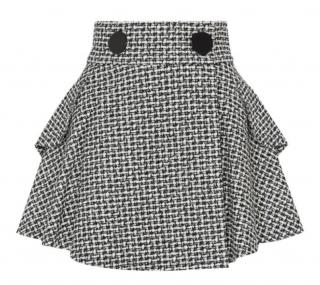 Alexander Wang Tweed Black & White Flare Mini Skirt