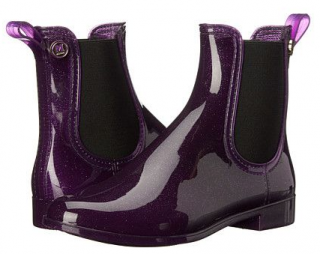 M Missoni Purple Glitter Rubber Rain Boots
