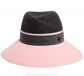 Maison Michel Black/Pink Rabbit & Hare Felt Hat