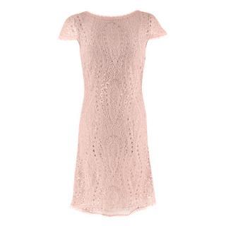 Emillio Pucci Soft Pink V-Back Lace Dress