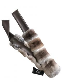 FurbySD beige chinchilla fur collar scarf