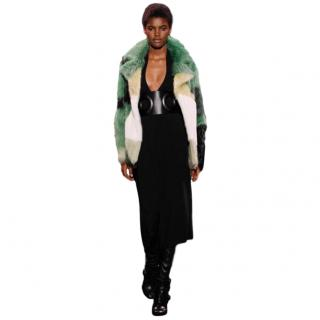 Tom Ford Green Intarsia Coypu Fur Coat