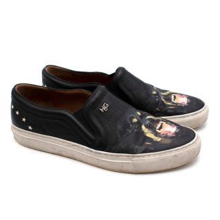 Givenchy Black Skate Rottweiler Slip-on Sneakers