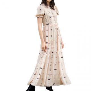 Diane von Furstenberg Crepe De Chine fern maxi dress