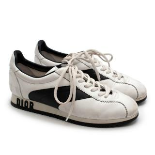 Christian Dior White & Black Leather Trainers
