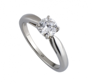 Van Cleef & Arpels Diamond Solitaire in Platinum Setting