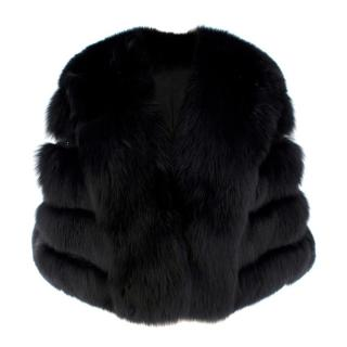 Saga Furs Black Fox Fur Shawl