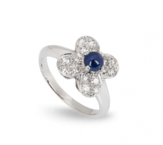 Van Cleef & Arpels Sapphire Ring with Diamond