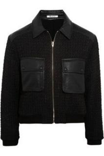 T by Alexander Wang black tweed & leather jacket