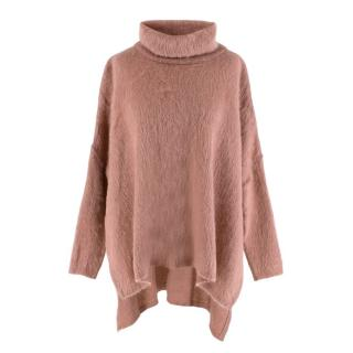Tom Ford Mohair Blend Pink Roll Neck Jumper