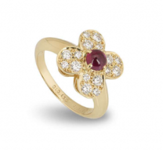 Van Cleef & Arpels Ruby Ring with diamonds