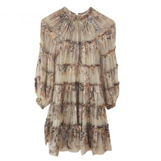 Zimmermann beige tiered lady beetle paisley dress