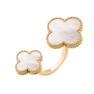 Van Cleef & Arpels Magic alhambra between the finger 18ct gold ring