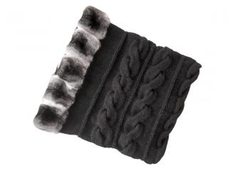 FurbySD black chinchilla & merino wool snood