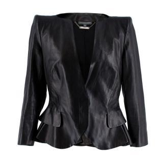 Alexander McQueen Ruffled Nappa Leather Jacket