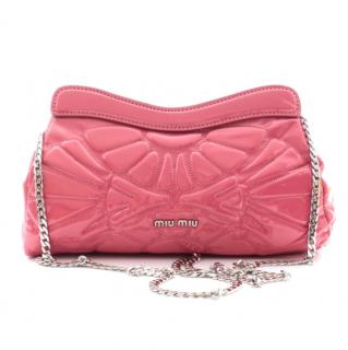 Miu Miu Raspberry Pink Quilted Shoulder Bag