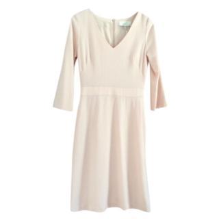Goat pink wool V-neck dress