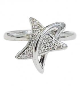 Bespoke 18ct white gold & diamond star ring