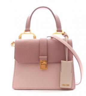 Miu Miu Madras pink two-tone leather crossbody bag