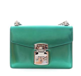 Miu Miu Confidential metallic green shoulder bag