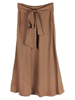 Diane von Furstenberg Lesley patterned silk blend midi skirt