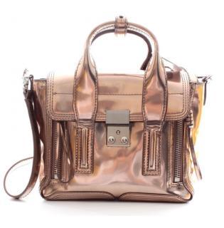 3.1 Phillip Lim Pashli Mini mirrored copper leather satchel