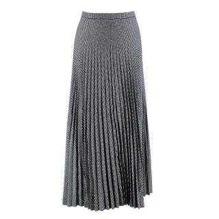 Christian Dior Houndstooth Pleated Skirt