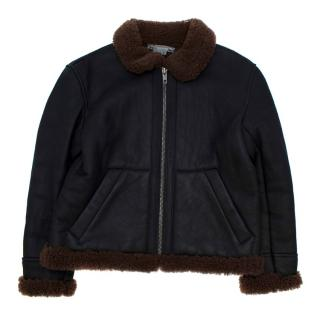 Bonpoint Kids Shearling Leather Jacket