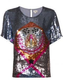 Temperley London Sara silver sequin blouse