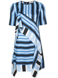 Diane von Furstenberg blue striped silk mini dress