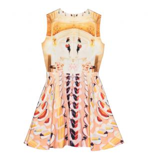 Mary Katrantzou Orange Printed A-Line Dress