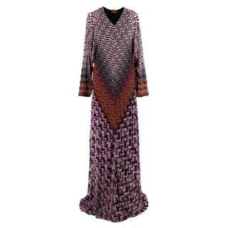 Missoni Lurex Chevron Wool Blend Gown