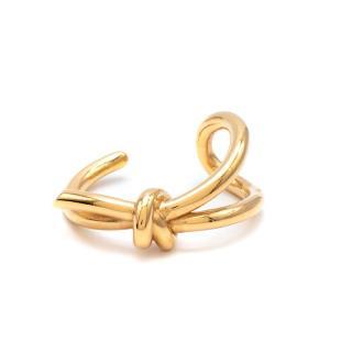 Balenciaga Gold Tone Knot Bracelet