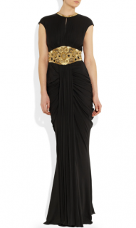 Alexander McQueen Embellished stretch-jersey gown