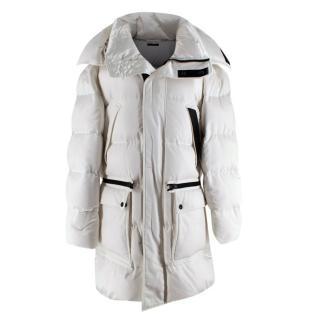 Tom Ford Men's White Oversized Puffer Jacket