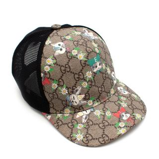 Gucci Kid's Cats & Dogs Supreme Cap