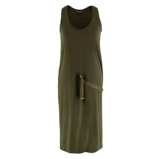 Tom Ford Khaki D-Ring Detail Shift Dress