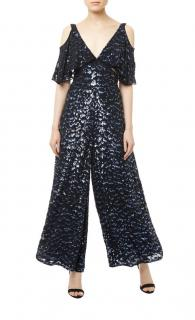 Temperley Celestial Black Embellished Jumpsuit